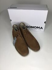 Sonoma Byron Suede Men's Chukka Shoes Size 11 Wide New With Box Ships Free