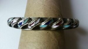 Custom artisan beautiful inlay bracelet