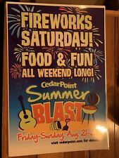 Cedar Point Advertising Poster 2009 Theme Amusement Park Fireworks And Summer