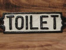 CAST IRON VINTAGE VICTORIAN RETRO STYLE TOILET SIGN IDEAL FOR HOME OR WORK