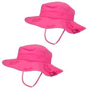 Sun Protection Zone Kids UPF 50+ Protection Safari Hat Strap Boys Girls 1 or 2pk
