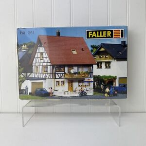 Faller HO Scale Two Family House Building Kit 261 - 161 Colored Pieces - Sealed