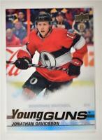 2019-20 Series 2 Clear Cut Young Guns #479 Jonathan Davidsson - Ottawa Senators