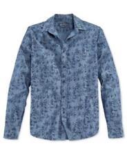 American Rag Printed Shirt Basic Navy Mens Size XL New