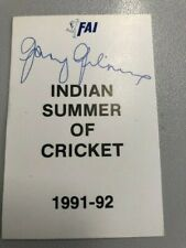 Indian Summer of Cricket -91-92- FAI Series signed by Gary Gilmour