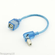 USB 2.0 B Female To Dwon Angled USB B Male Printer Short Data Cable Adapter Blue