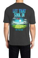 Mens T Shirt Golf LET THAT SINK IN Graphic Tee Short Sleeve Bahama Beach NEW