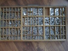 Set Metal Letterpress Typeset Font Unknown Size Font Tray Not Included