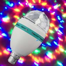 LED DJ Rotating Stage Crystal Lamp/Disco Bulb Light RGB B22 Magic Ball Party#BQ