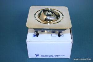 WAC Lighting HR-8421-PB Eyeball Recessed Trim Light Square Polished Brass