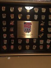 Kellogg's Cereal 1992 Olympics 40 Pin Set/Collection Framed w/Original Box