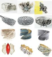 Crystal Rhinestone Stretch Bracelet Bangle Wedding Bridal Wristband Lady Jewelry
