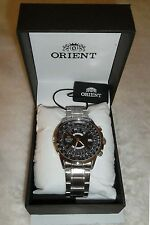 Orient Multi Year Calendar Calculator Black Automatic 100m Watch New in Box Tags