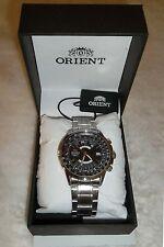 Orient Multi Year Calendar Taschenrechner Schwarz Automatik 100m Uhr Neu in Box Tags