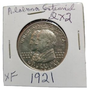 1921 Alabama 2 x 2 Commemorative half dollar