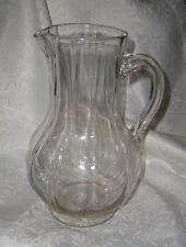 Großer alter Krug Glaskrug mit Abriss facettiertes Glas ca 24 cm