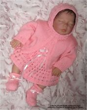 """Machine Knit Baby Pattern: """"Molly"""", Prem/ doll Outfit MK318 by Frandor Formats"""