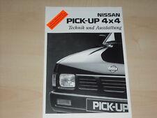 41815) Nissan Pick up 4x4 - technische Daten & Ausstattung -  Prospekt 03/1994