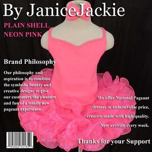 New National Pageant Dress Plain Shell Tank Size: XXS, XS, S, M, L (Neon Pink)