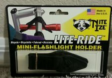 Nite Ize Lite Ride Mini Light Holder 'Clear' not Black (Made in the Usa)