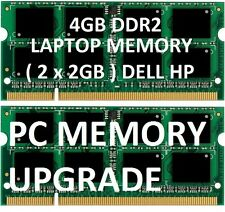 4gb = 2gb X2 LAPTOP MEMORY RAM DDR2 sodimm acer hp dell 800mhz PC2-6400  CRUCIAL
