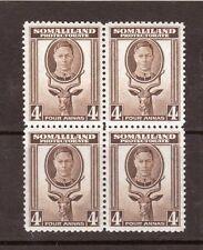 SOMALILAND, 1942 KGV1, 4a SG 109  MNH  BLOCK 4, CAT £3 EACH