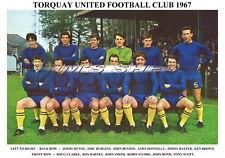 TORQUAY UNITED F.C.TEAM PRINT 1967 (STUBBS / BOND / BROWN / SMITH)