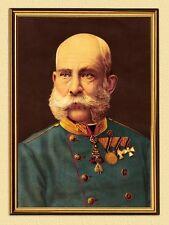 Emperador Franz Josef I. de Austria Portrait K & K 107 facsímil en el marco de oro