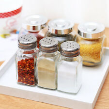 Glass Kilner Shakers Spice Pepper seasoning Pots Jars Kitchen Storage Holder BBQ