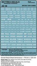 Stickers réservoir britannique skytrex noms 1/76,20 mm scale (AD48)