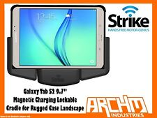 STRIKE SAMSUNG GALAXY TAB S2 9.7 LOCKABLE MAGNETIC CHARGE CRADLE RUGGED CASE LSP