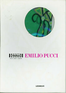 New in Box Wolford Emilio Pucci Tights Size Large  Color Sireno Green 18451 - 35