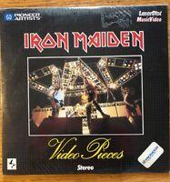 IRON MAIDEN Pioneer LASERDISC Music Video Rare 1983 SEALED RUN TO THE HILLS WOW