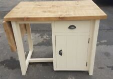 NEW SOLID WOOD FREE-STANDING CHUNKY KITCHEN ISLAND WOODEN BREAKFAST BAR SET