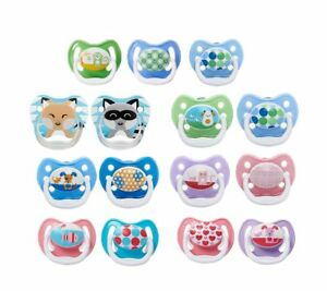 Dr. Brown's PreVent Classic Orthodontic Baby Infant Pacifier Binky, 4 Pack
