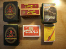 Budweiser, Strohs, Moosehead & Coors Playing Cards - New in Tins/boxes