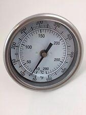 """Thermometer 3"""" Dial 2-1/2"""" Stem 1/2"""" NPT 50-550 deg F 10-290 deg C range B3B2-RR"""