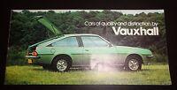 Vauxhall RANGE BROCHURE Chevette Viva Cavalier Carlton Royale January 1979