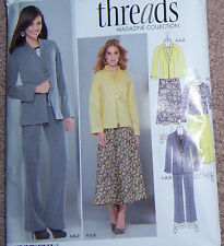 misses 8 10 12 14 16 easy fitting SUIT pattern stylish jacket blazr skirt pants