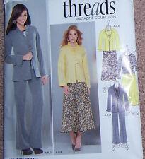 misses 8 10 12 14 16 easy fitting SUIT pattern stylish jacket blazr skirt pants