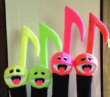 Set of 4 Black light Music Note Puppets:Performance, Ministry, Music Education