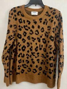 Vintage America Blues Womens Zelda Animal Print Long Sleeve Sweater Pullover