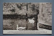 R&L Postcard: Swans Ringing the Bell, Bishop's Palace, Wells