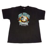 Florida Marlins Fish Never Die T-Shirt 2003 Black Size XL MLB Baseball