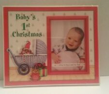 Baby's 1st Christmas Picture Frame with easel by Expressly Yours 4x3 Trim Inlay
