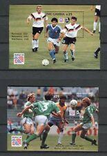 s6673) GAMBIA 1993 MNH** WC Football'98 - CM Calcio S/S x2