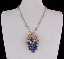 Modeschmuck-Halsketten aus Strass und Metall-Legierung mit Tropfen-Schliffform