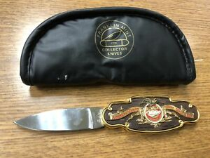 FRANKLIN MINT Miller Milwaukee Beer Collectors Knife w/ Carrying Case