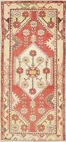 Vintage Muted Geometric Anatolian Oriental Runner Rug Handmade Home Decor 2x6
