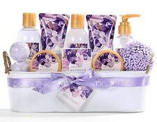 12 Pcs Bath Spa Gift Basket, Lavender Bath Gift Set for Women Mother's Day Gifts